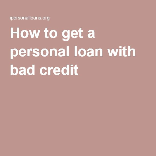 How to get a personal loan with bad credit adrugrecall Pinterest