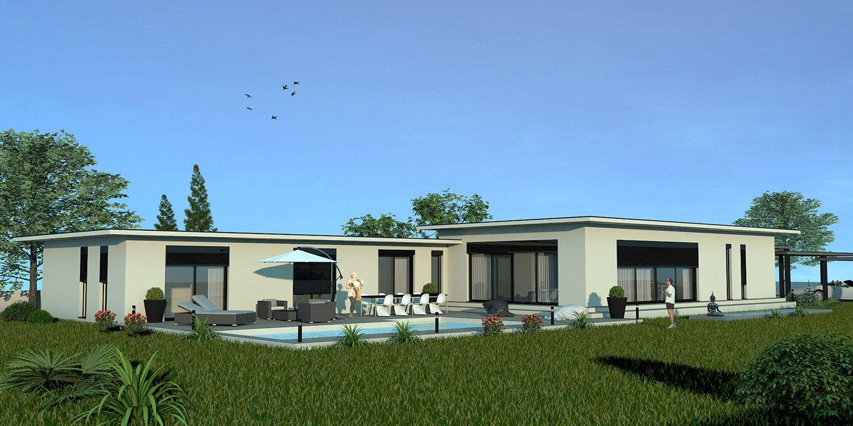 Villa ibiza hmbc luxe constructeur de maisons de luxe maison prestige maison performance - Maison contemporaine de luxe ...