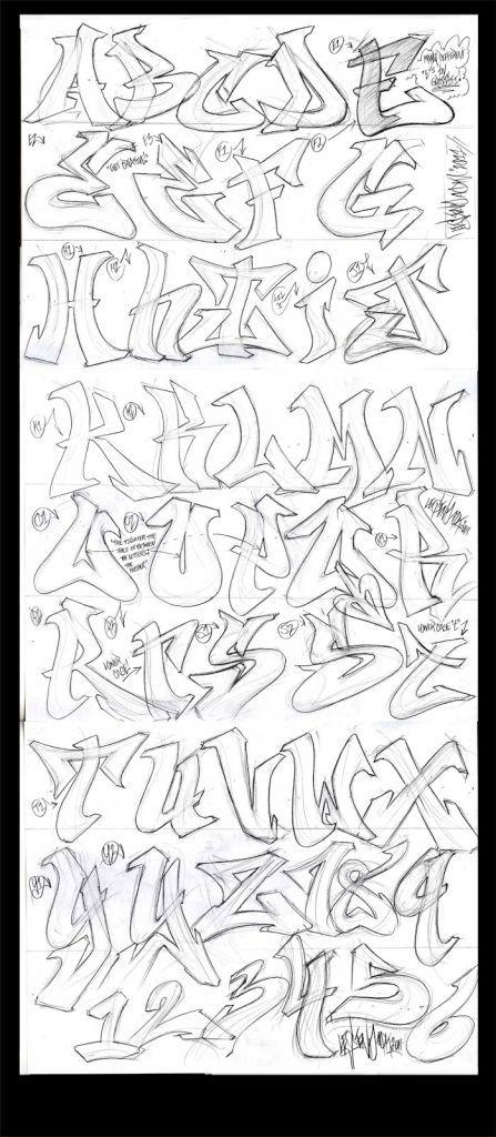 Graffiti Burner Alphabet Graffiti Alphabet090111 Different