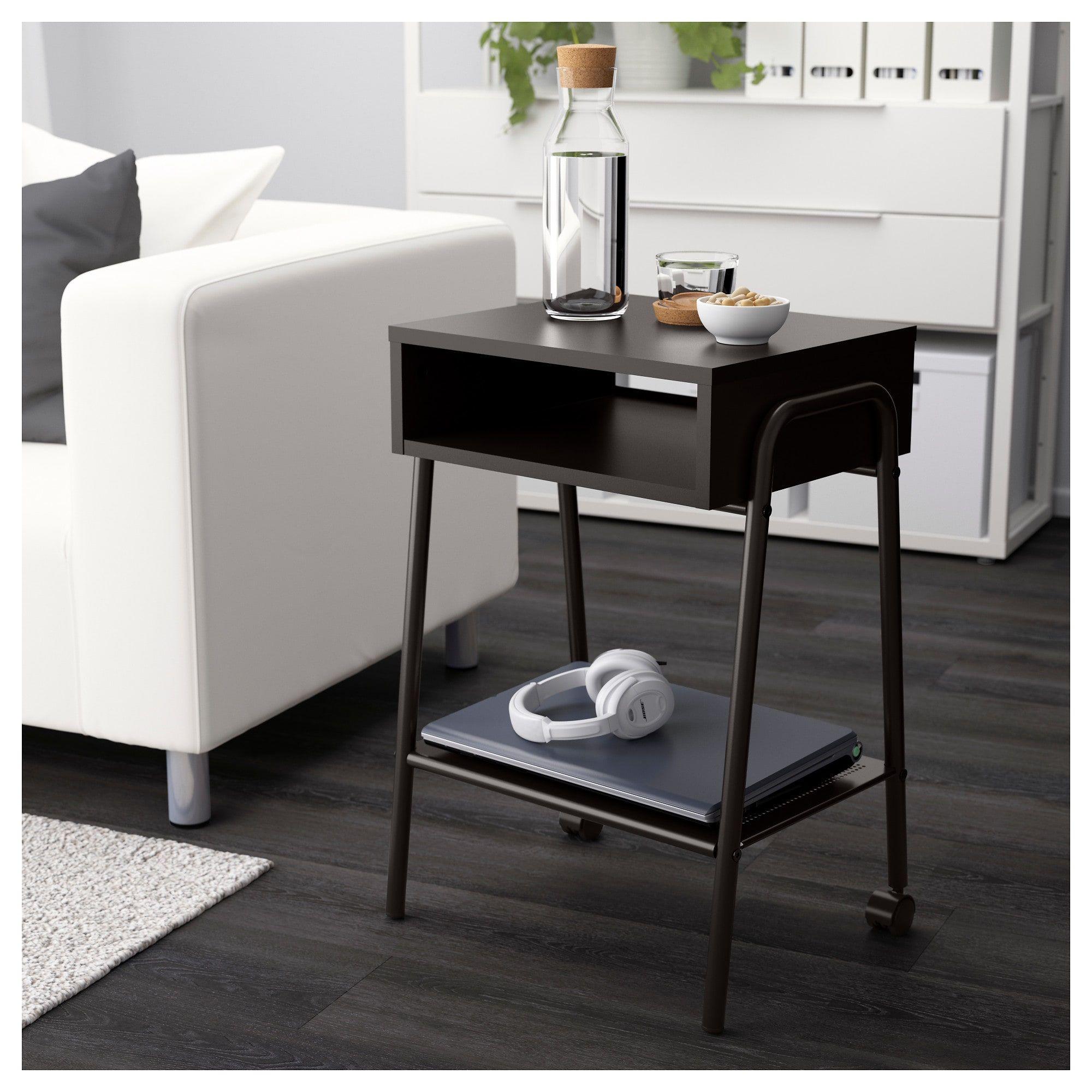 Setskog Bedside Table Black 45X35 Cm  Ikea