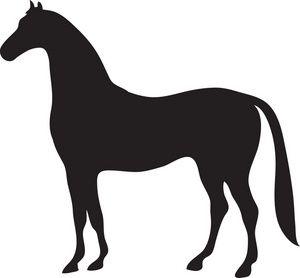 Western Pleasure Horse Silhouette Art Print / Choose your Colors ...