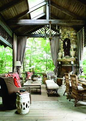 Lounging Porch, Francie Hargrove via Atlanta Homes & Lifestyles