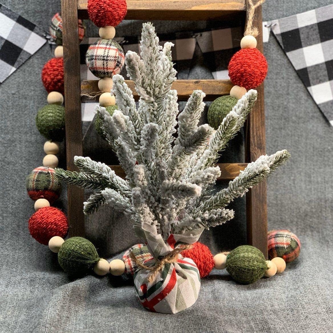 New Target Dollar Spot Christmas 2019 flocked mini Pine