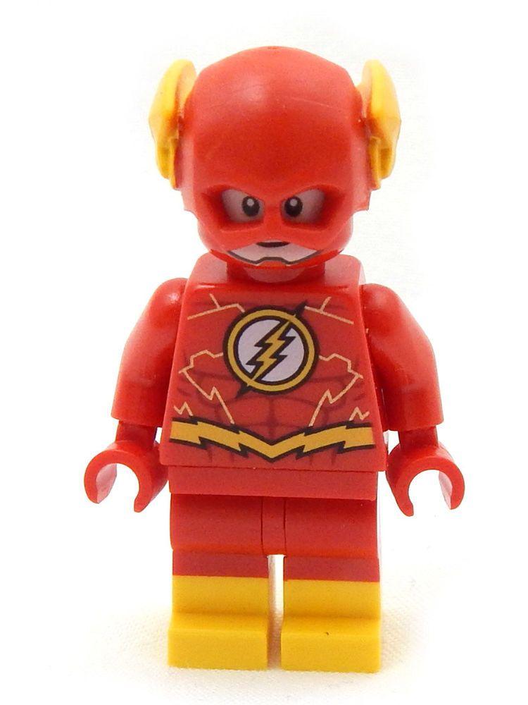 New Lego Flash Minifig 76117 Dc Comics Justice League Super Heroes