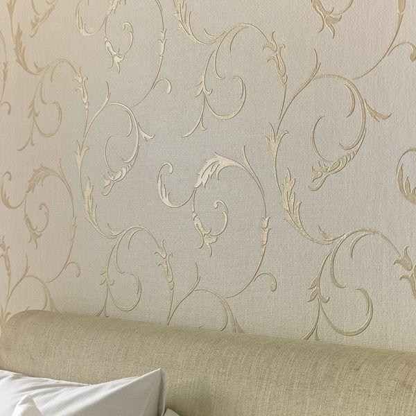 Athena White Gold Gold Wallpaper Embossed Wallpaper Gold Wallpaper Living Room