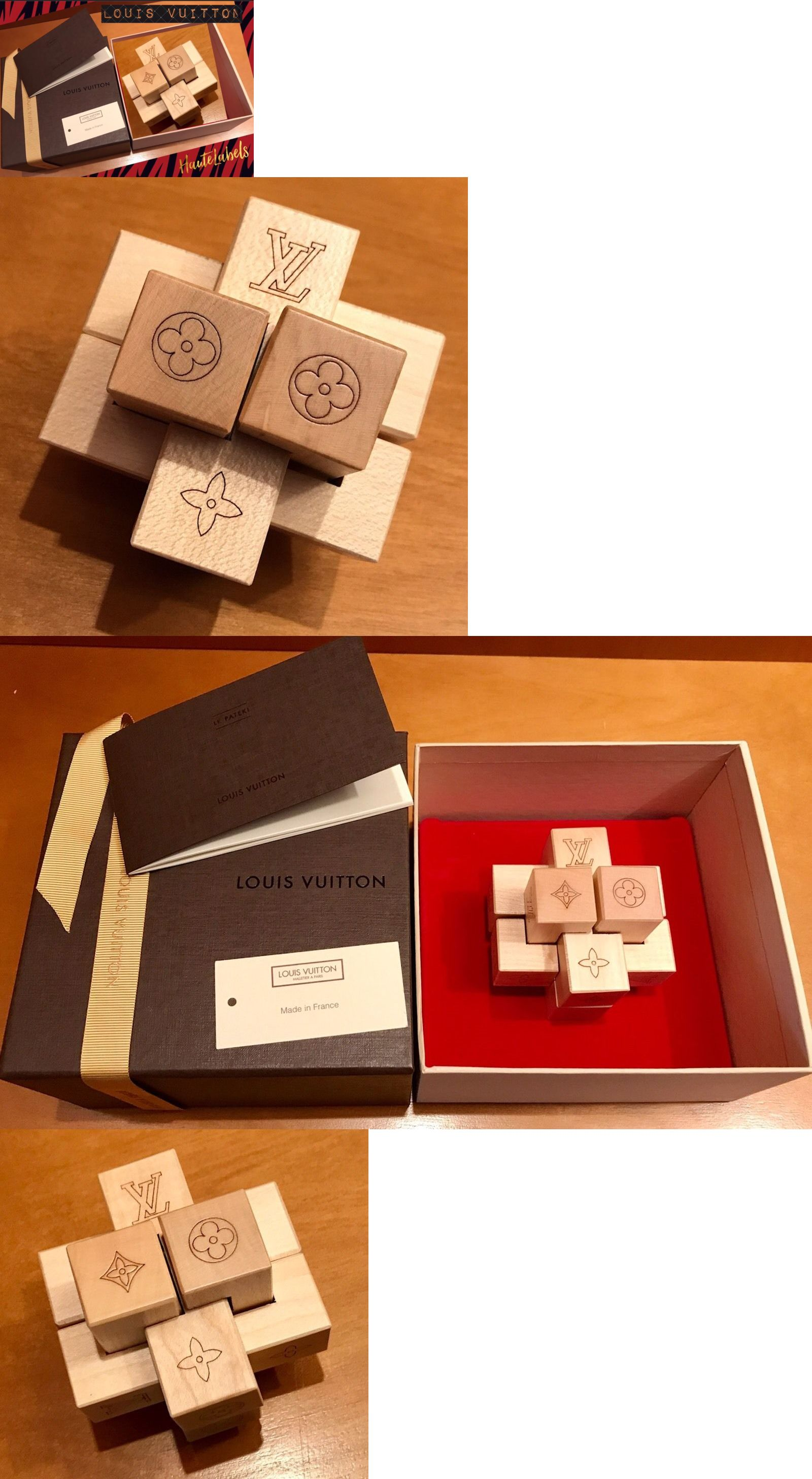 Wooden authentic louis vuitton vip gift le pateki puzzle in