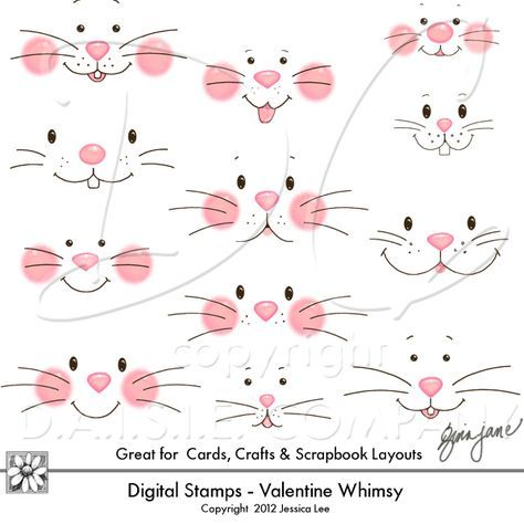 Witty image within bunny face printable