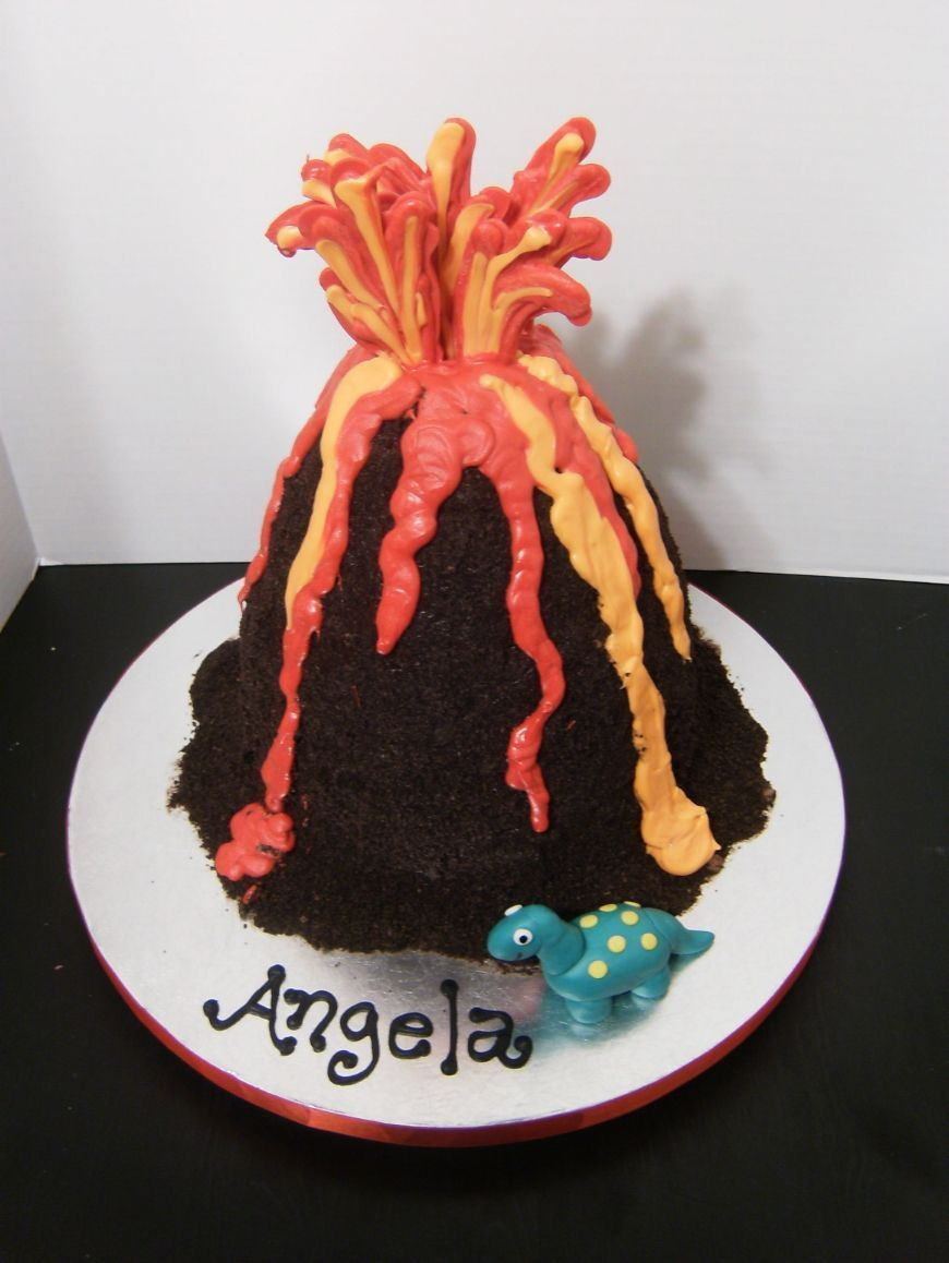 Volcano Birthday Cake Images : Volcano cake - This was for a science teacher s birthday ...