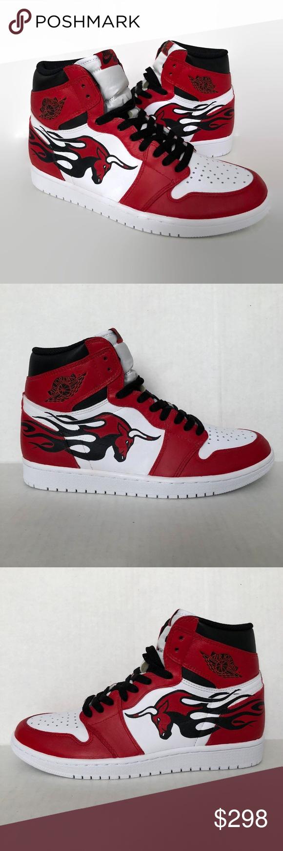 22bce9887d20 Air Jordan 1 Retro High Customs Chicago Bulls Air Jordan 1 Retro High Men s  Size 9