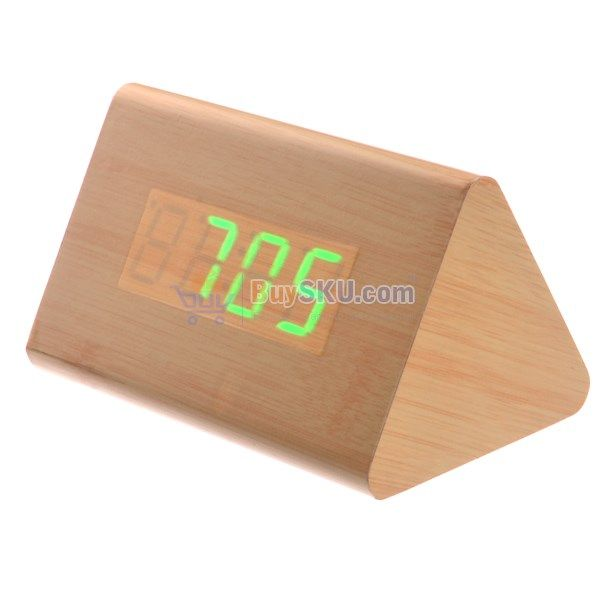 Alarm Clocks Honest Cube Wood Digital Alarm Clock Marble Wooden Cube Alarm Clock Led For Bedroom Sound Control Electronic Table Clocks Home Decor Factory Direct Selling Price