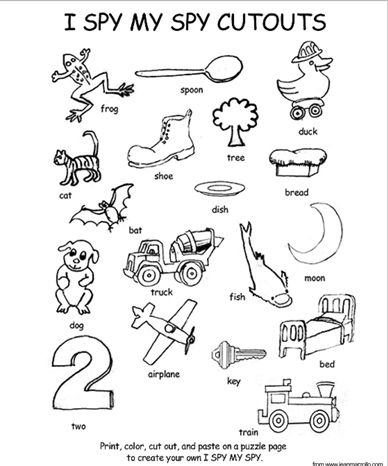 i spy my spy coloring page and cutouts httpwwwscholastic comparentsresourcesfree printablereading printablesi spy my spy coloring page and cutouts