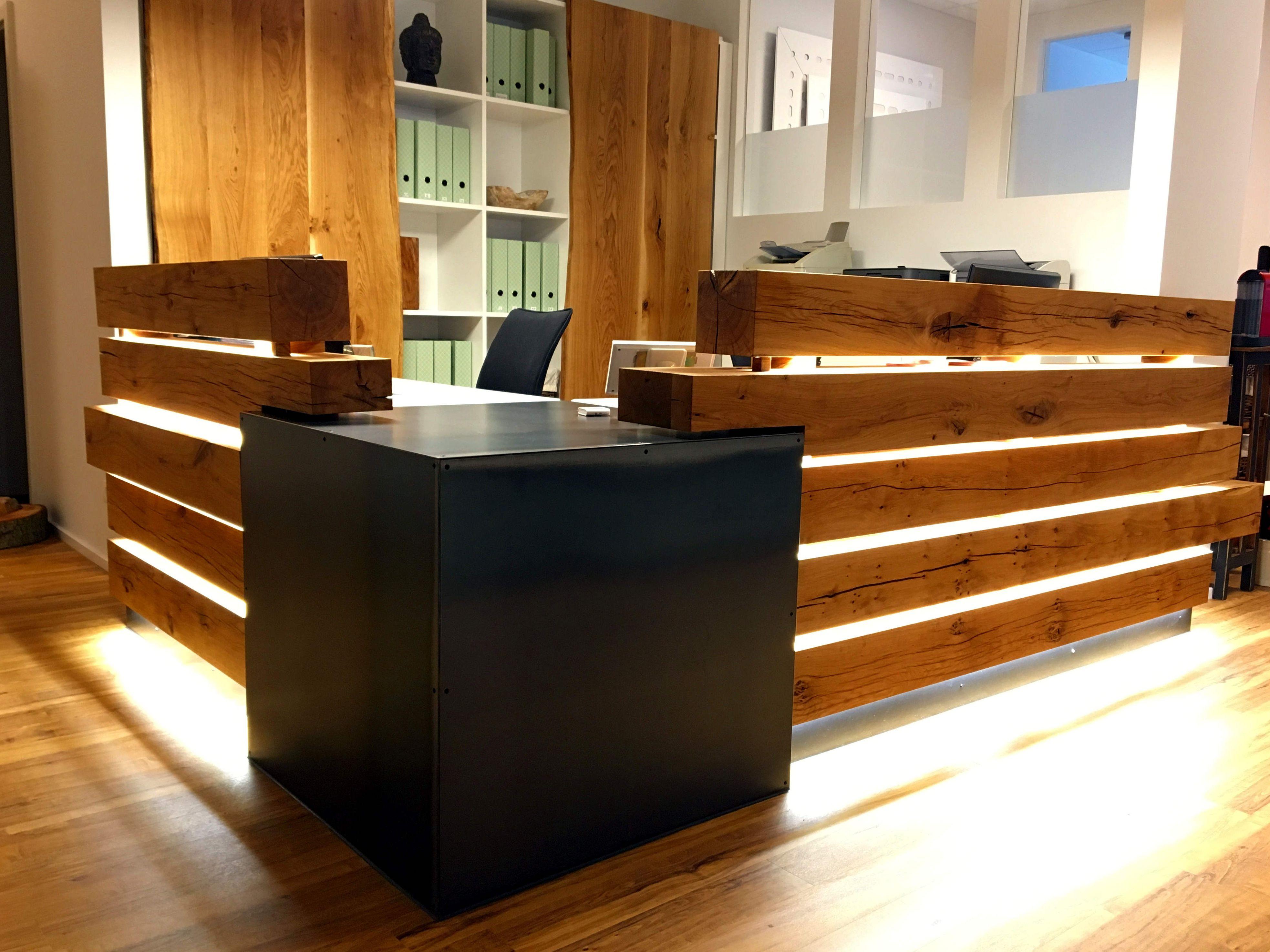 Empfangstresen Eiche Stahl Möbel Zum Selbermachen Haus Deko Hochwertige Möbel