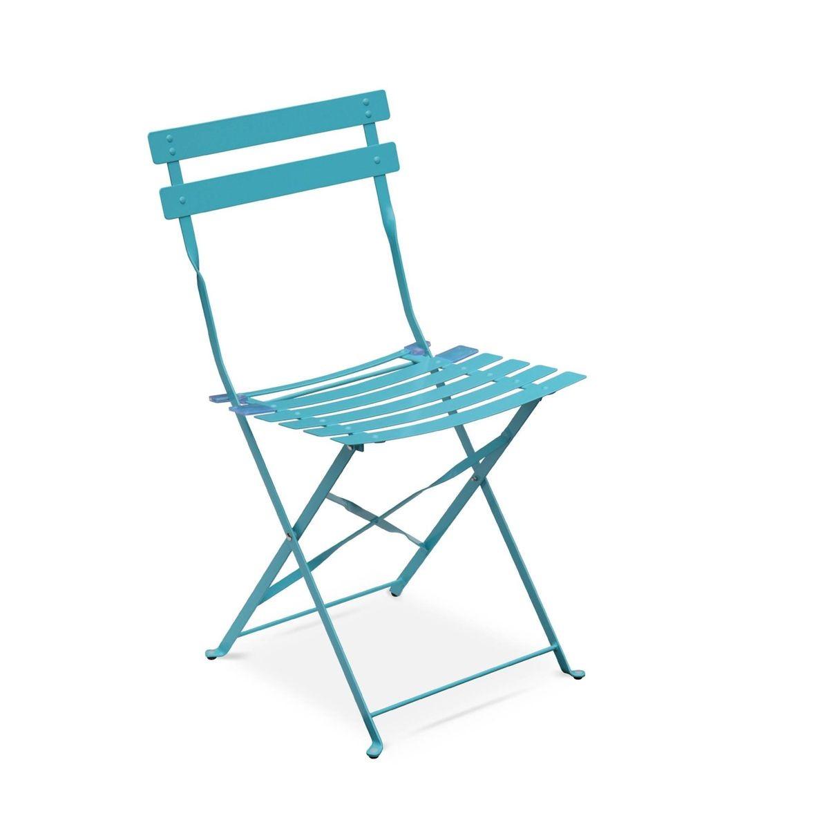 TurquoiseTable Pliable Emilia De Salon Jardin Bistrot Rond shQdCxBtor