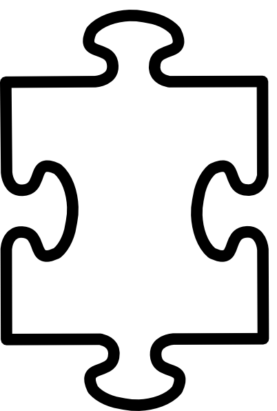Puzzle piece autism. Printable pieces template clipart