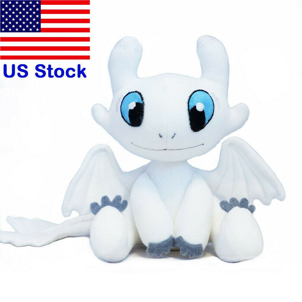 How to train your dragon 3 light fury plush figure toy