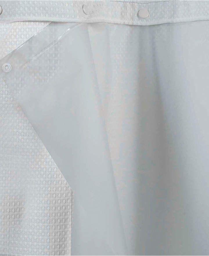 Hookless Peva Snap 70 X 54 Shower Curtain Liner Bedding Hookless