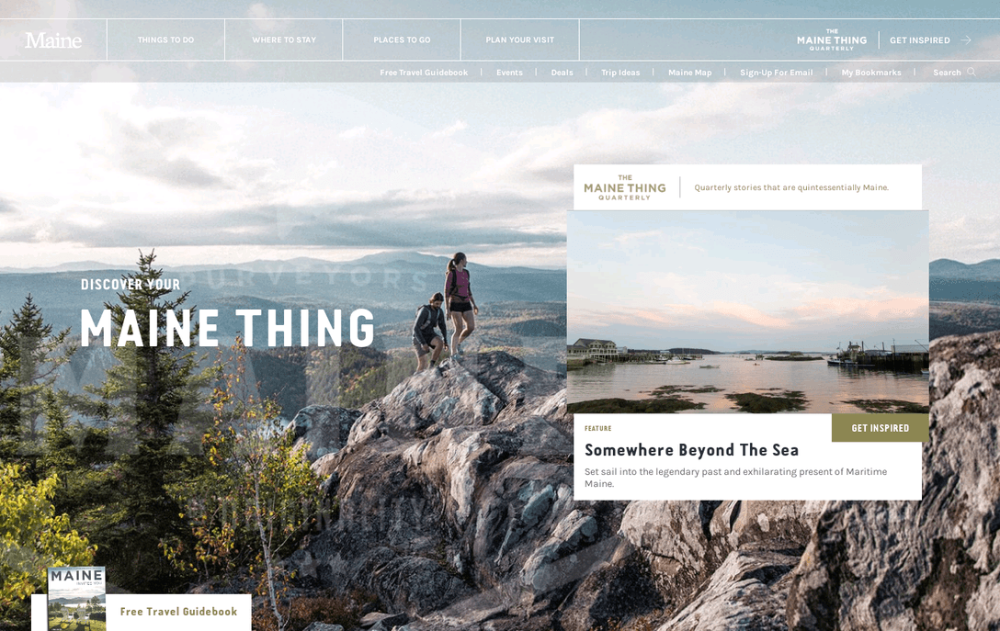 10 Best Travel Web Design Inspirations In 2020 Best Travel Websites Travel Website Visit Maine
