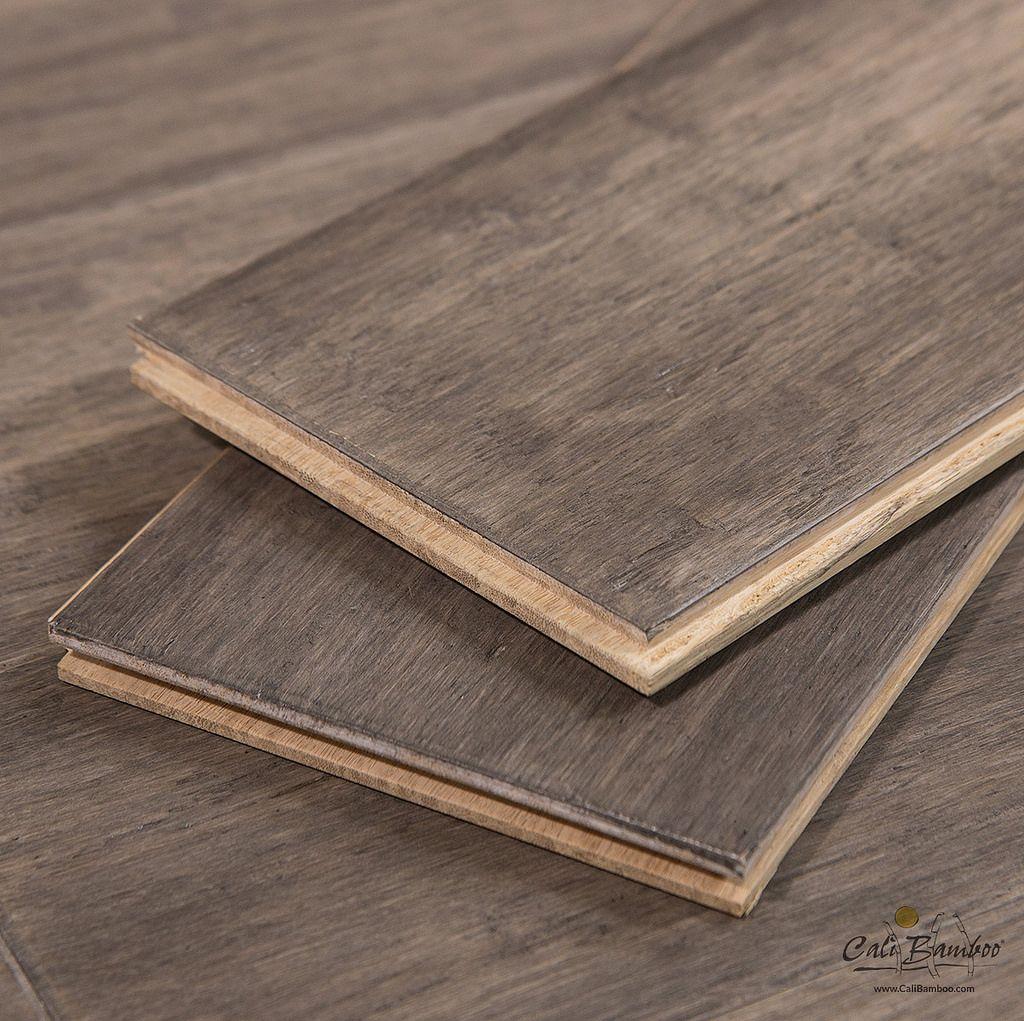 Grey Flooring Boardwalk Fossilized Wide Plank Bamboo