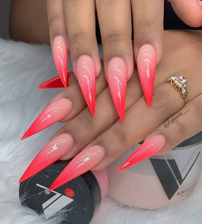 52 Trendy Acrylic Stiletto Nails Design Ideas For You , Page
