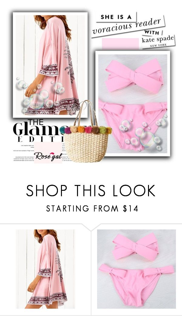 """CUTE PINK - ROSEGAL 20"" by pamelica ❤ liked on Polyvore featuring Kate Spade"