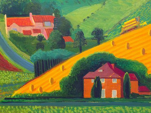 Yorkshire Landscape by David Hockney, Salts Mill   Rural Scenes in ...