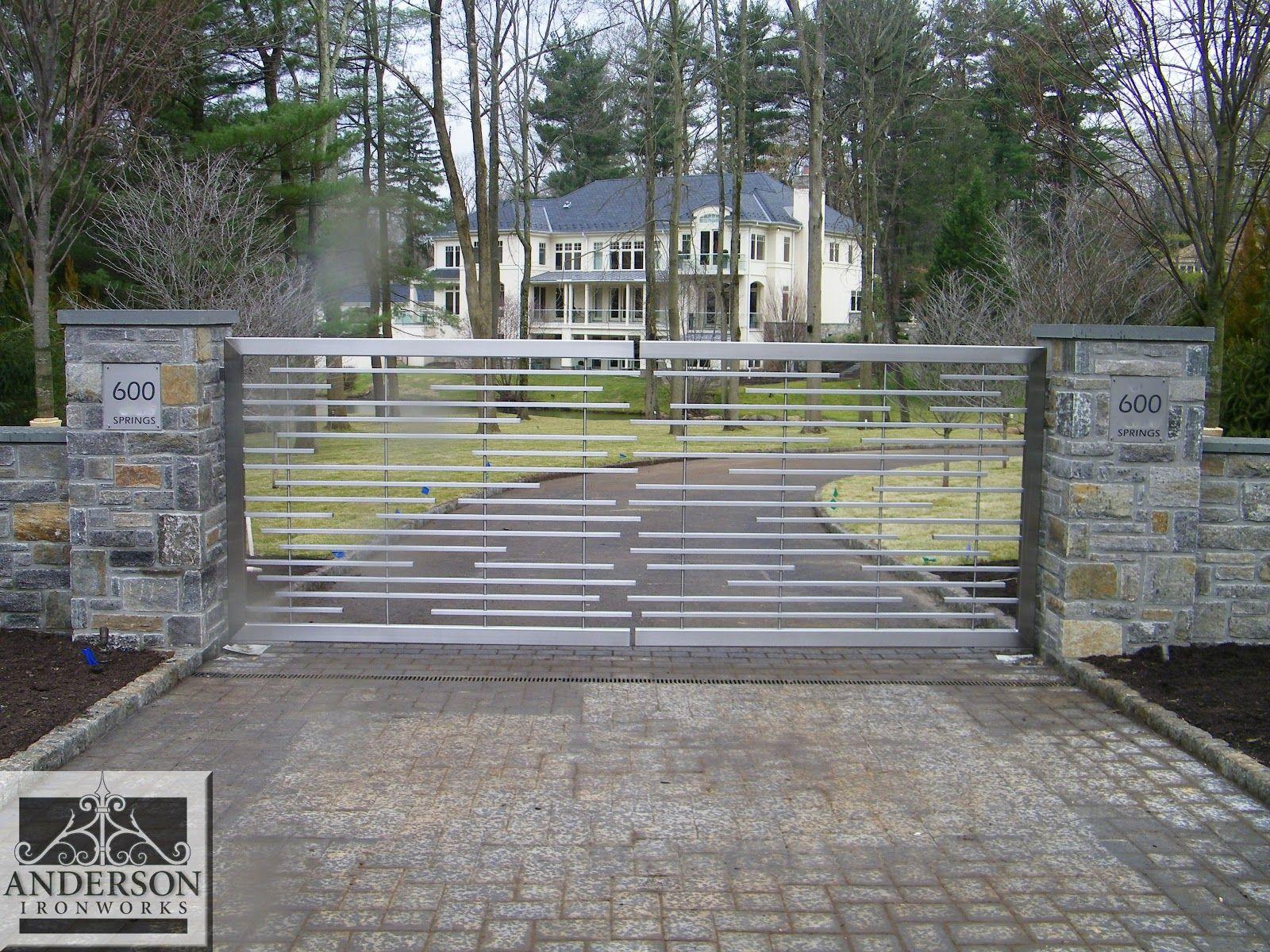 driveway gates modern - Google Search