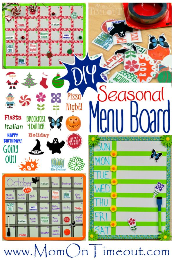 DIY Seasonal Menu Board - Mom On Timeout