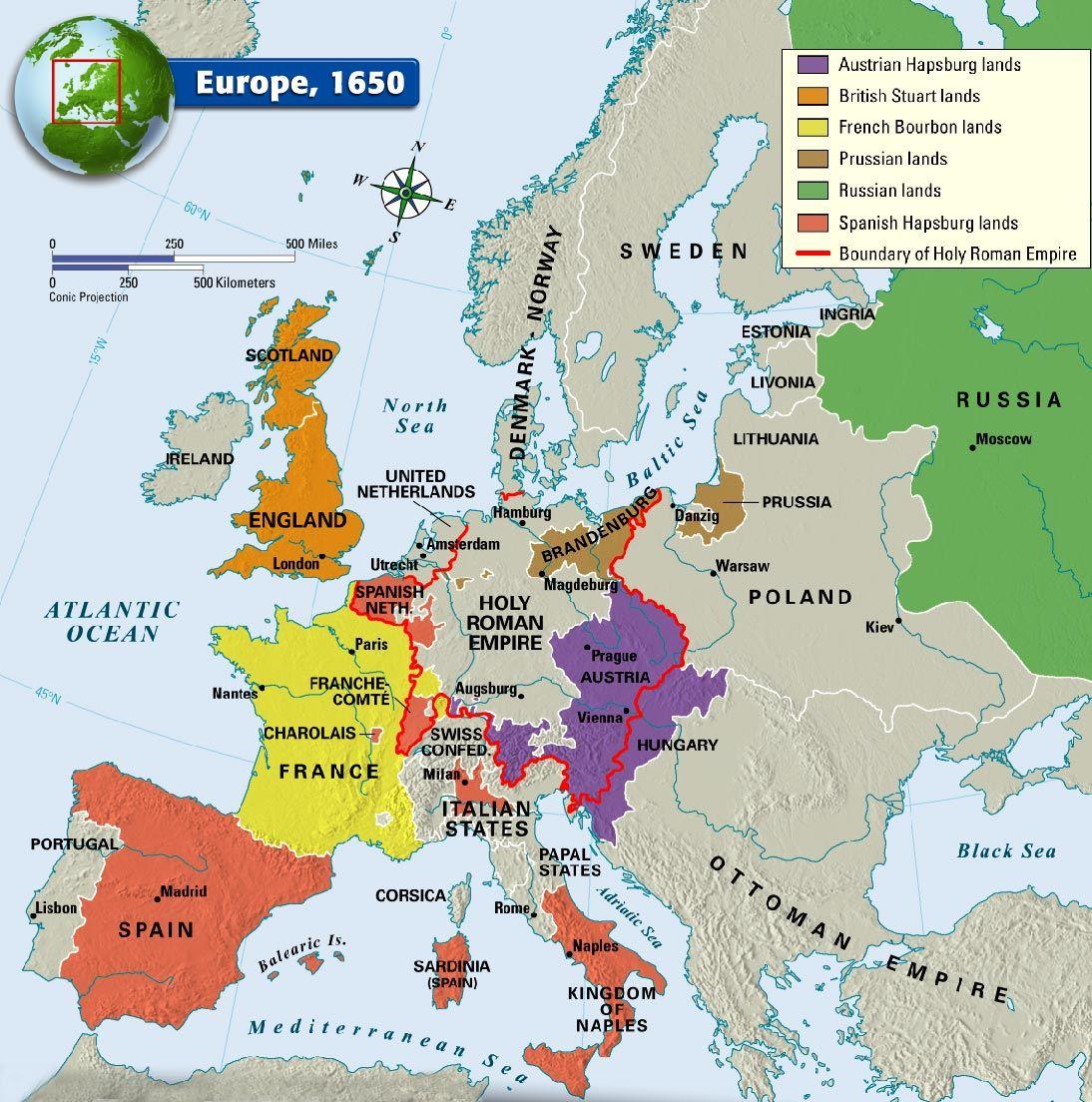 Europe 1650 Istorie Geografie