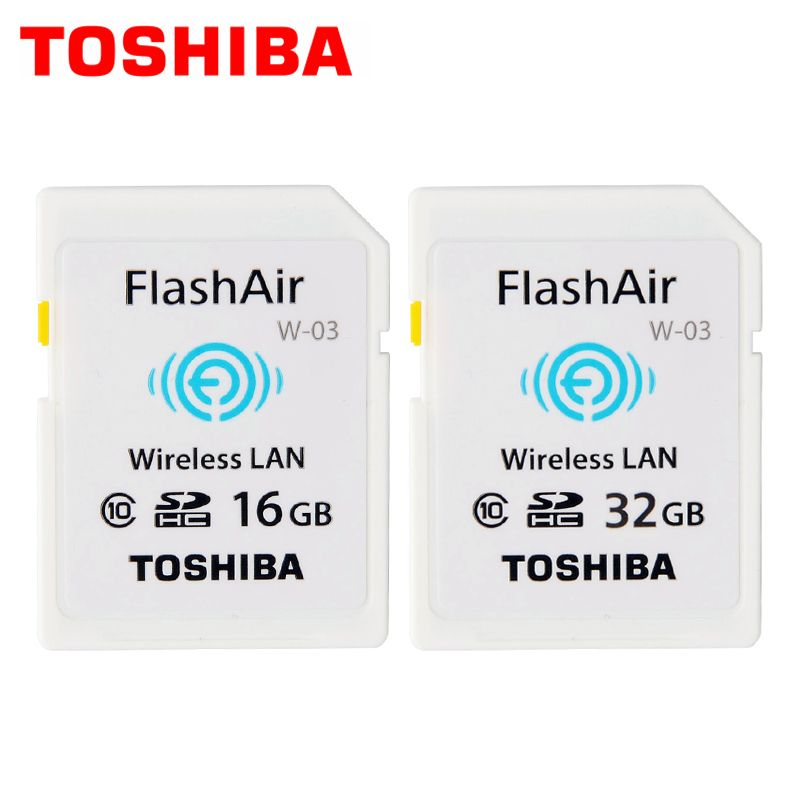 Toshiba FlashAir W-03,16gb,32gb,Wireless SD memory card,Wireless