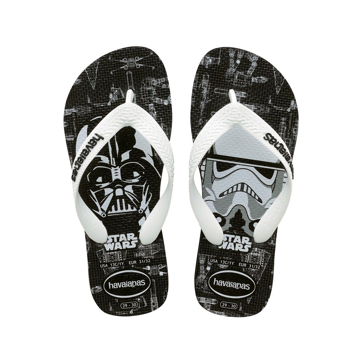 a7cabd23d8367 HAVAIANAS STAR WARS BLACK WHITE.  havaianas  shoes  all
