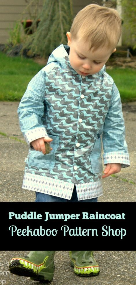 Puddle Jumper Rain Coat PDF Sewing Pattern - Peekaboo Pattern Shop