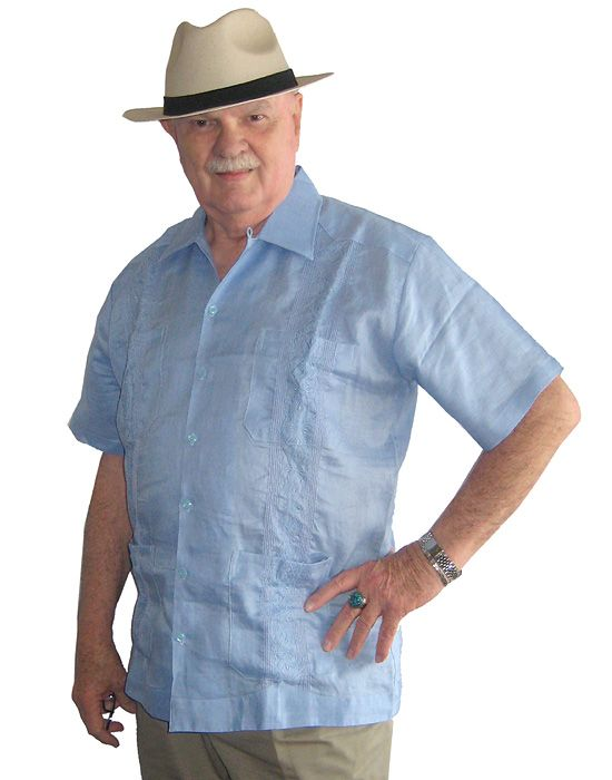 This Handsome Linen Men S On Up Guayabera Shirt Comes In A Light Oxford
