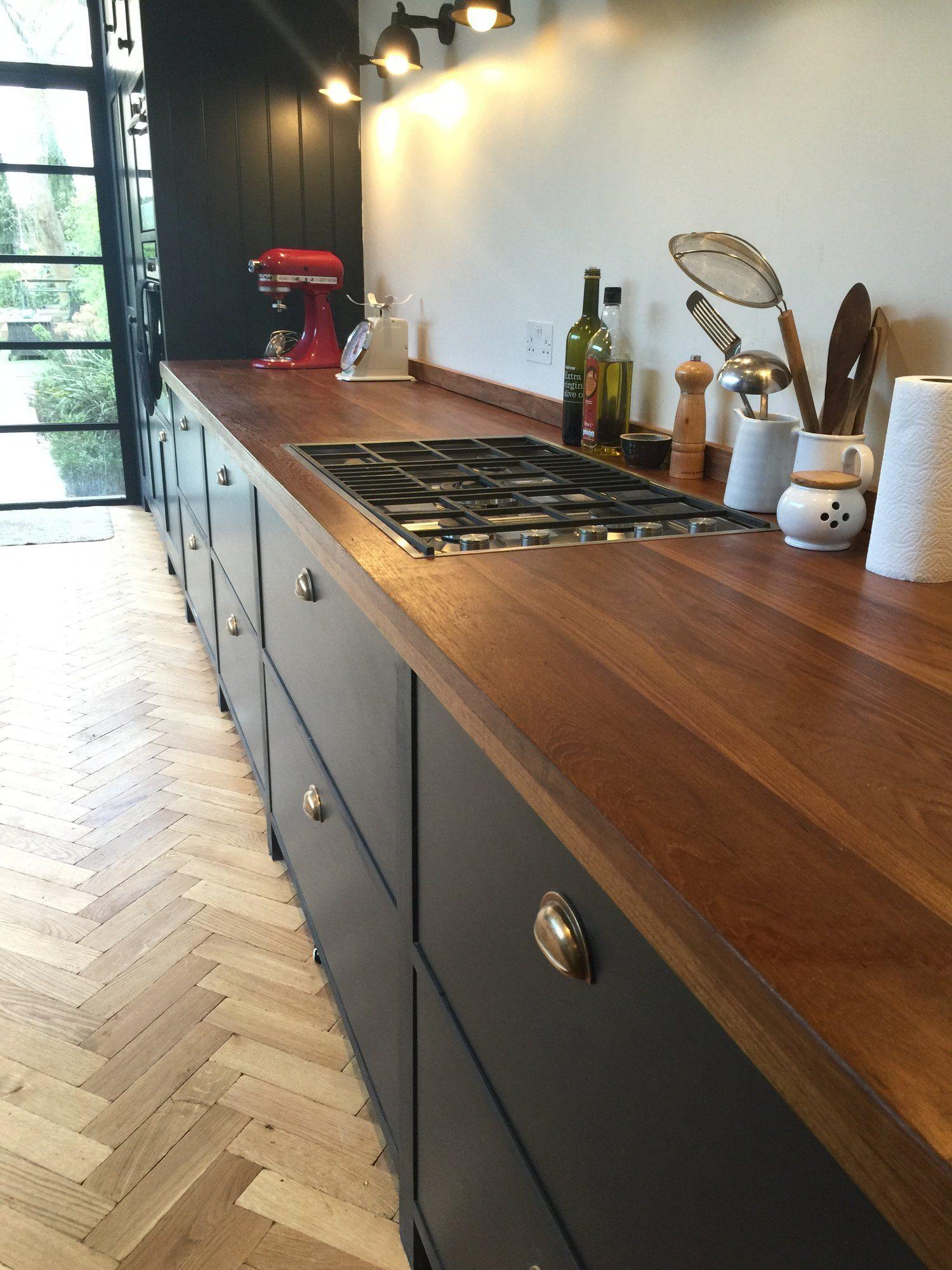 Reclaimed Teak Worktops Funky kitchen, Wood worktop
