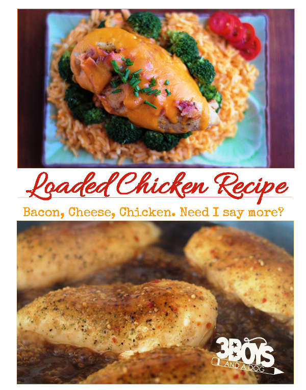 Loaded Chicken Breasts Recipe Recipes Chicken Breasts And Dinners
