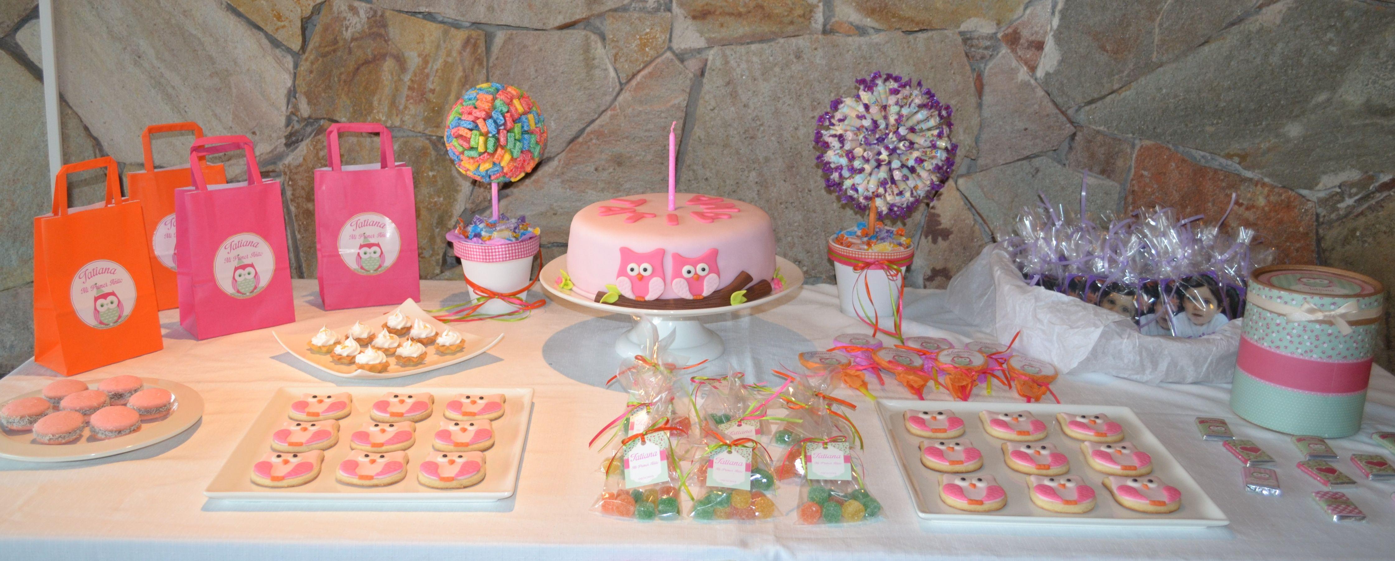 Mesa dulce de b hos y lechuzas comida decorada con b hos - Decoracion con buhos ...