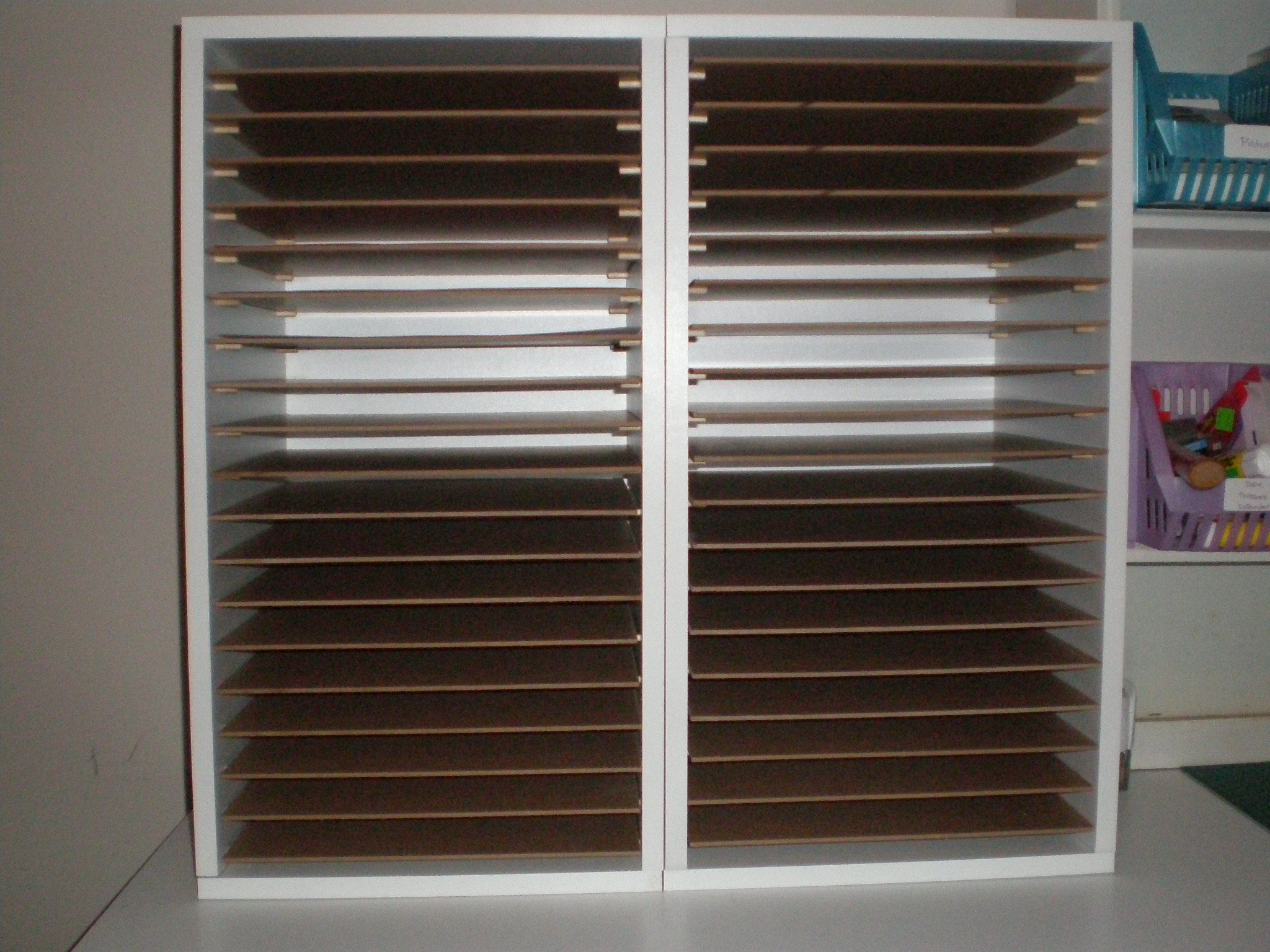 11++ Craft paper storage shelves ideas