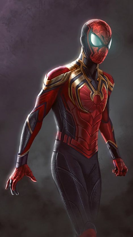Iron spiderman iphone wallpaper superheroes - Spiderman iphone x wallpaper ...