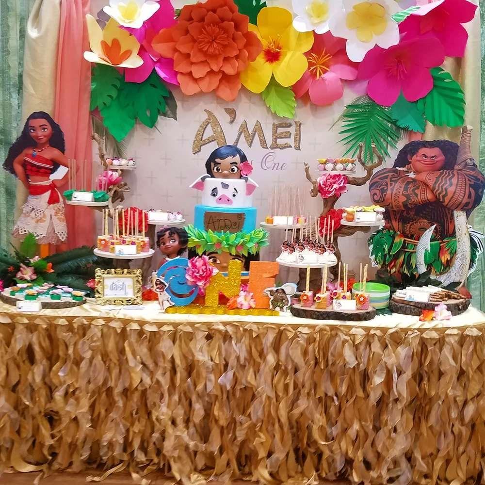 Moana Hawaiian Luau Birthday Party Ideas