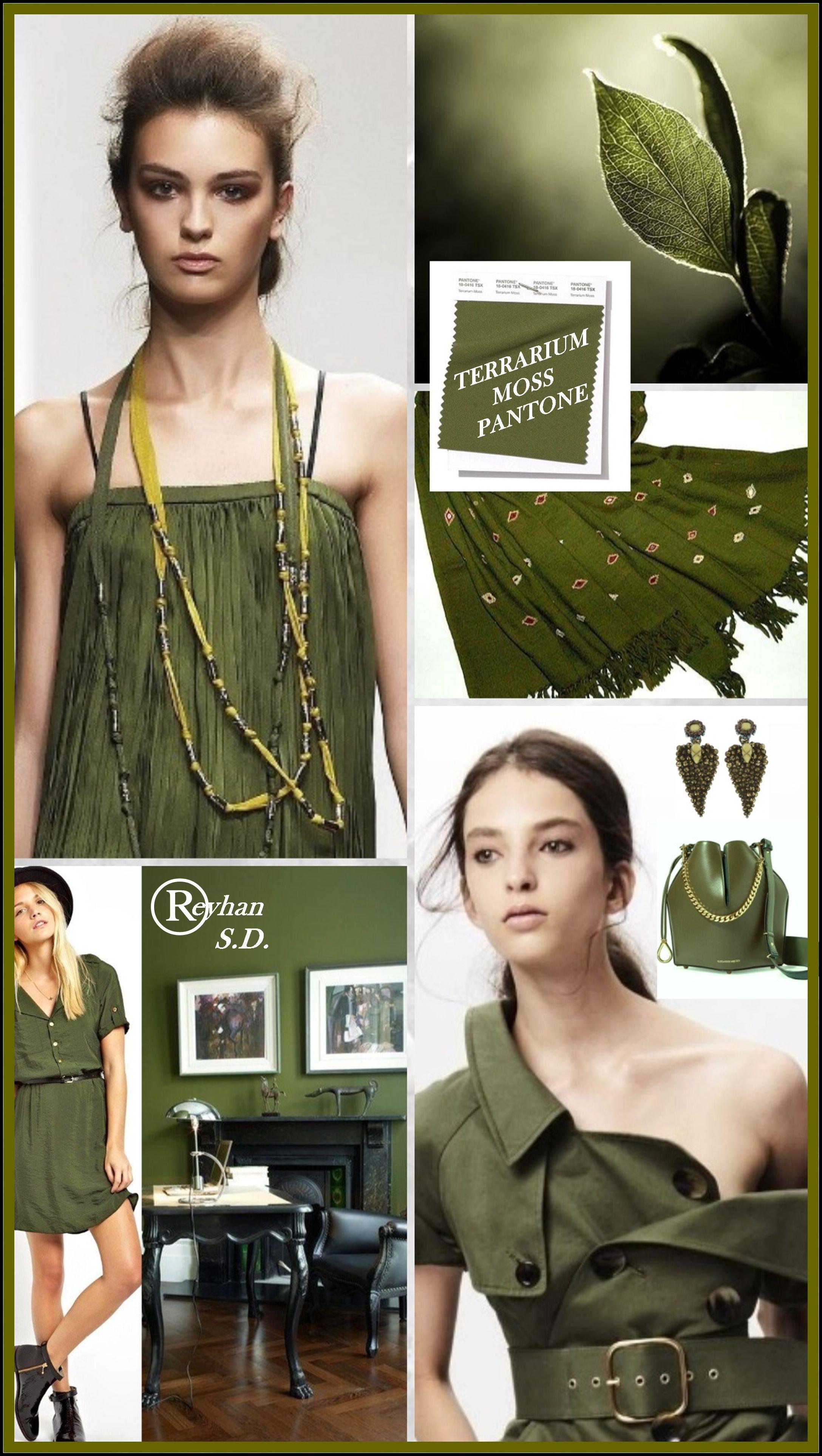 Terrarium Moss  Pantone Spring Summer  Color uu by Reyhan SD