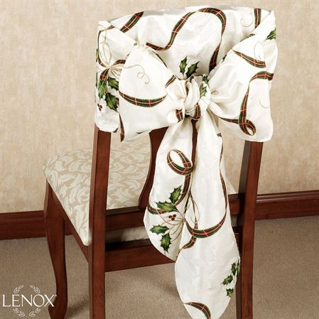 lenox christmas chair covers metal and wood dining holiday nouveau bow set of 2 love my