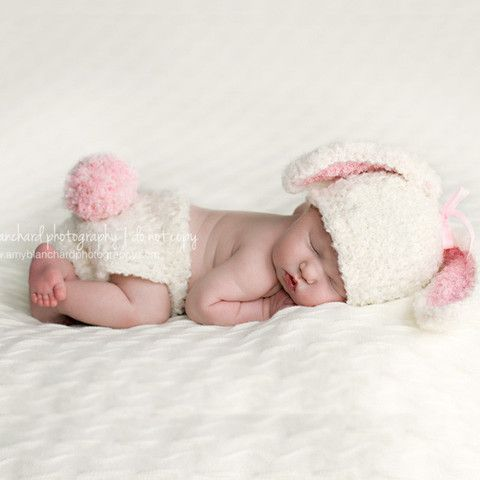 896a9b9bdae Bunny Baby Bop For Baby Girls Hat and Diaper Cover
