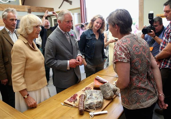 Prince Charles Photos Photos: The Prince of Wales & Duchess of Cornwall Visit Wales - Day 4 #visitwales The duchess and prince charles see local produce as they tour humble by nature farm #visitwales