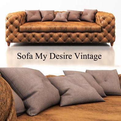 Modern Kare Design Sofa My Desire Vintage Sofas 3d Models Available