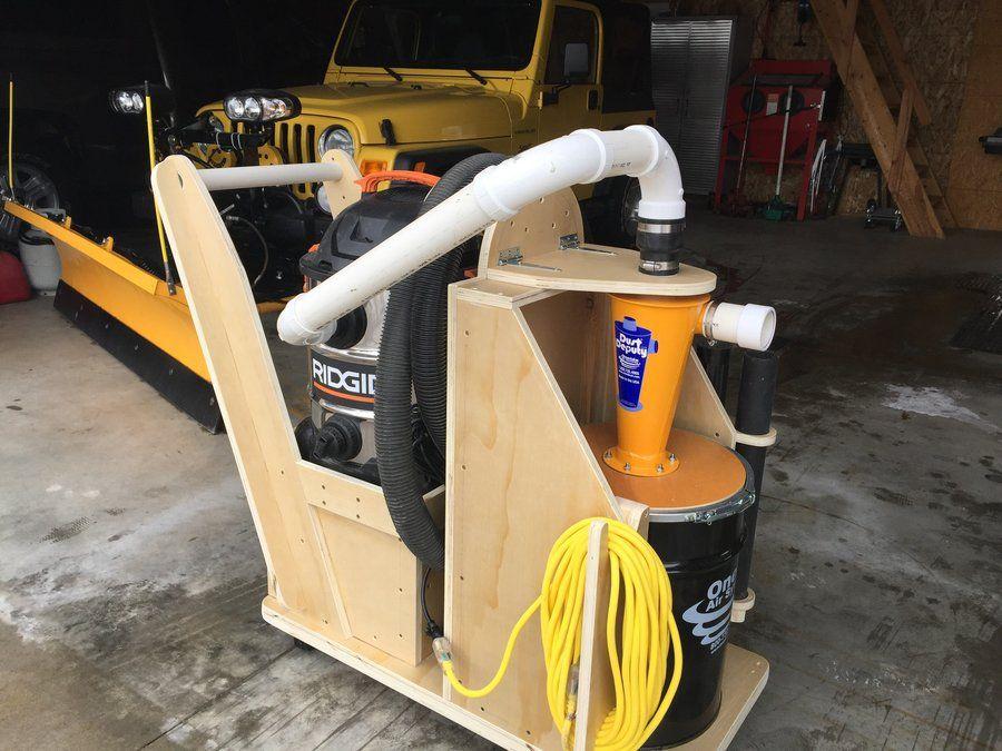 Dust deputy cart - by MacSteel @ LumberJocks com