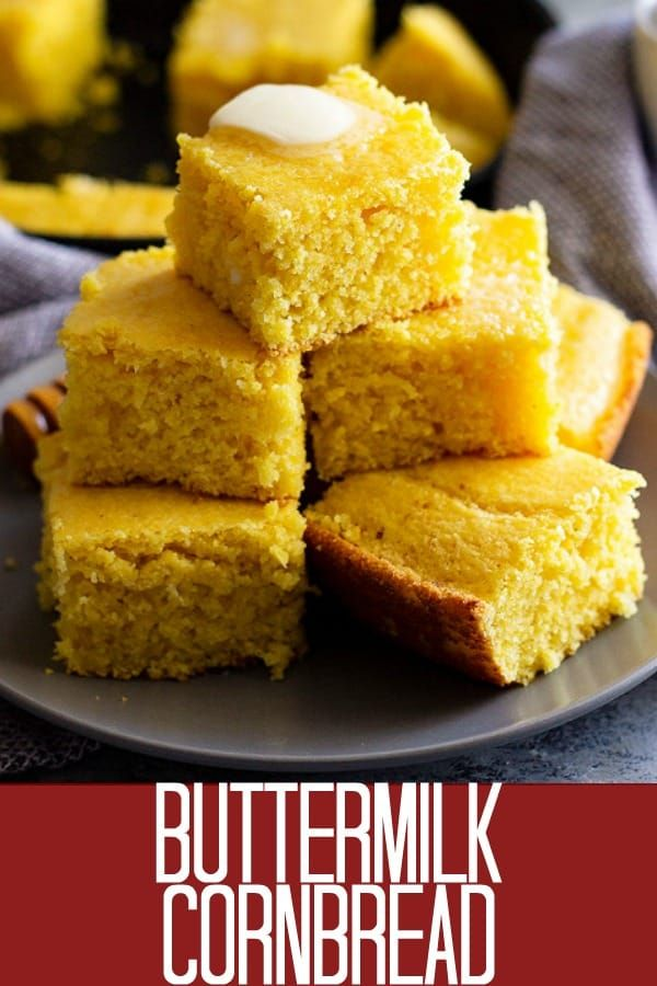 This Buttermilk Cornbread Recipe Is The Best Cornbread Ever Choose To Make It Sweet Or Savory By Adjus Sweet Cornbread Cornbread Recipe Sweet Honey Cornbread