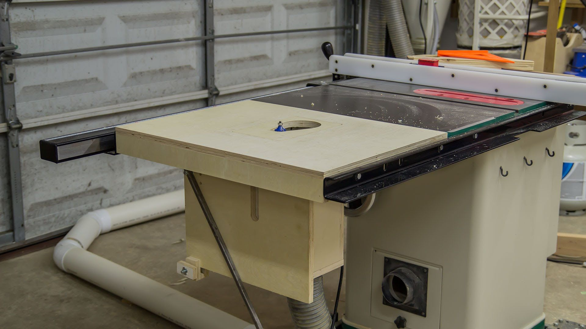 Building A Table Saw Extension Wing For A Router Lift