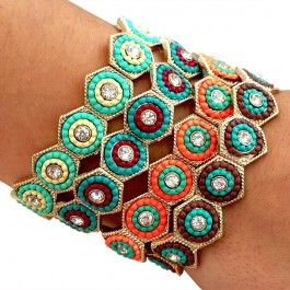 Love these colorful beaded bracelets! #handmade #jewelry #summer #fashion