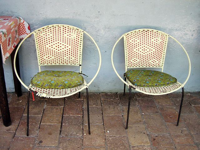 Odd Chairs mexican woven plastic/metal chairs | outdoors | pinterest | circle