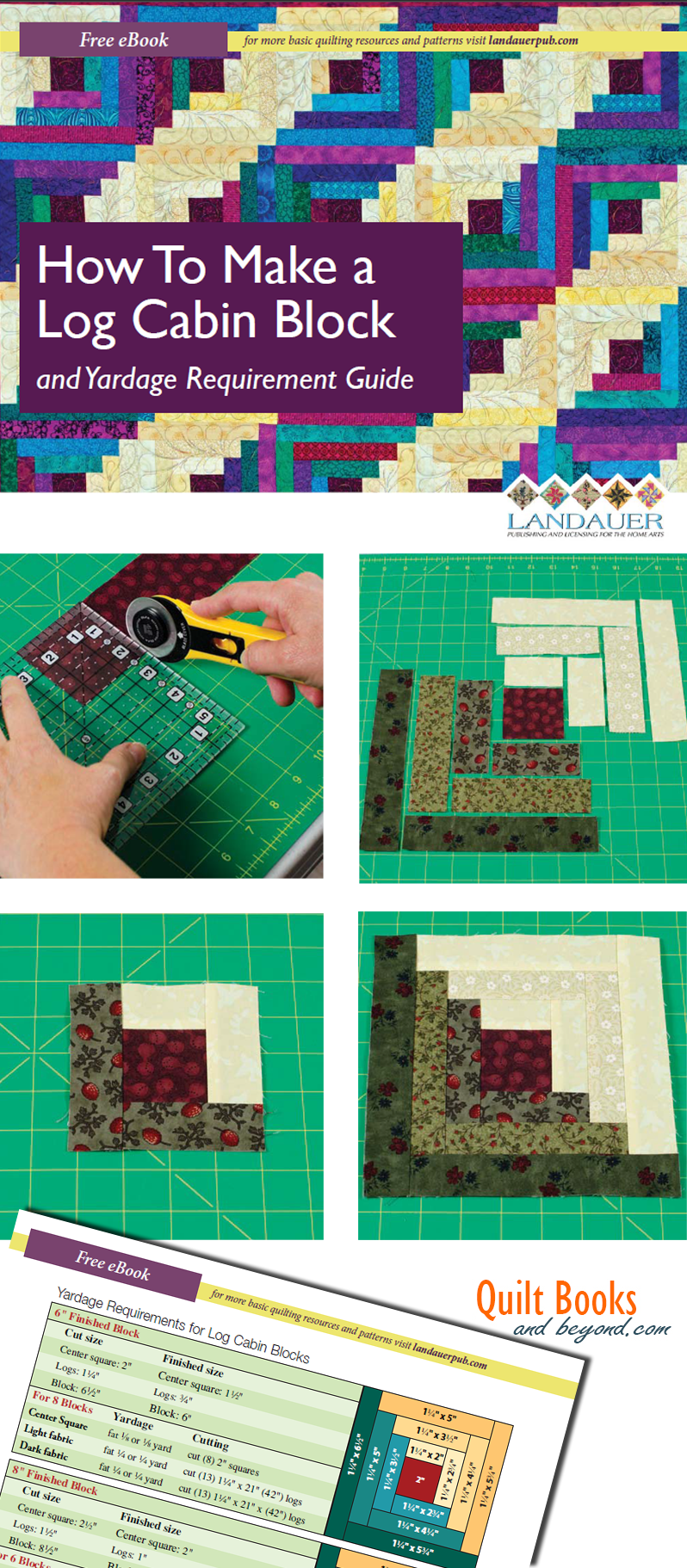 Log Cabin Quilt Block Guide Shows How To Make the Log Cabin Block ... : guidelines for quilting - Adamdwight.com