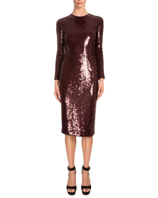 Longsleeve embellished sheath dress burgundy products